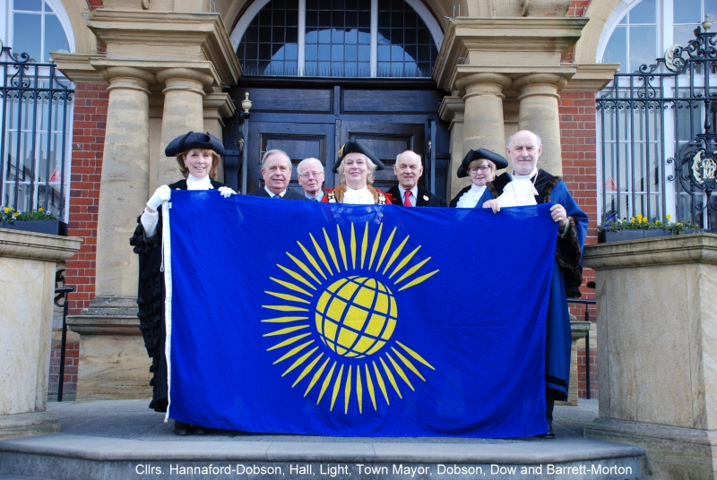 Commonwealth Day 2016 with flag captioned