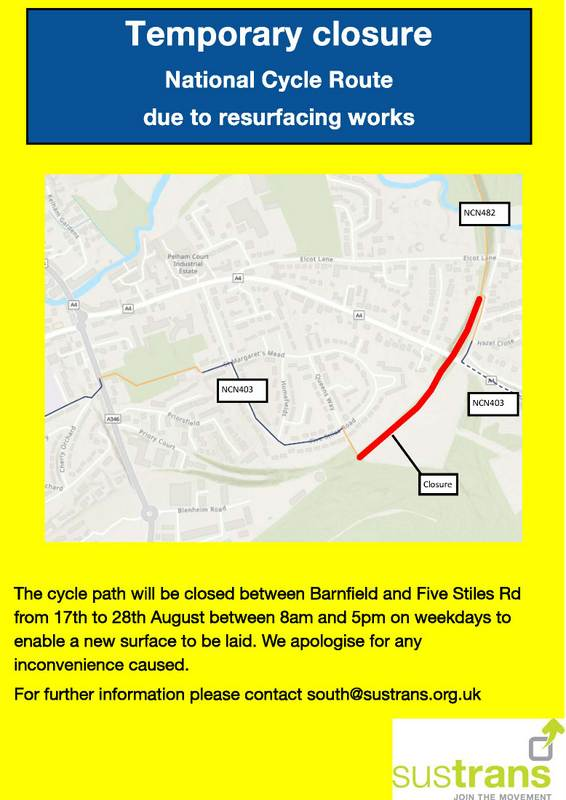 NCN-403-Malborough-closure-notice