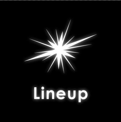 A logo containing an image of a star with the word Lineup