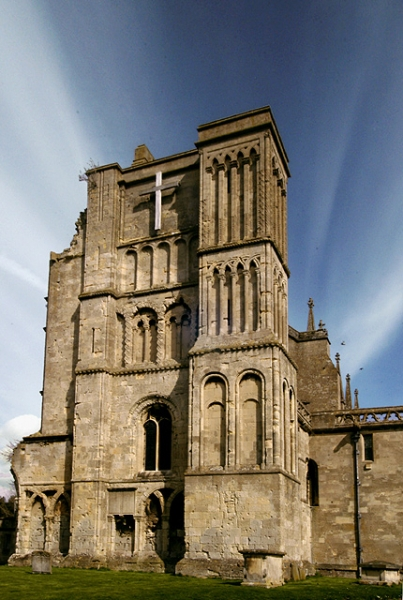 Malmesbury Abbey - West Face - geograph.org.uk - 198795