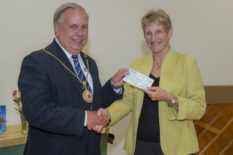 Cheque for St Mary's