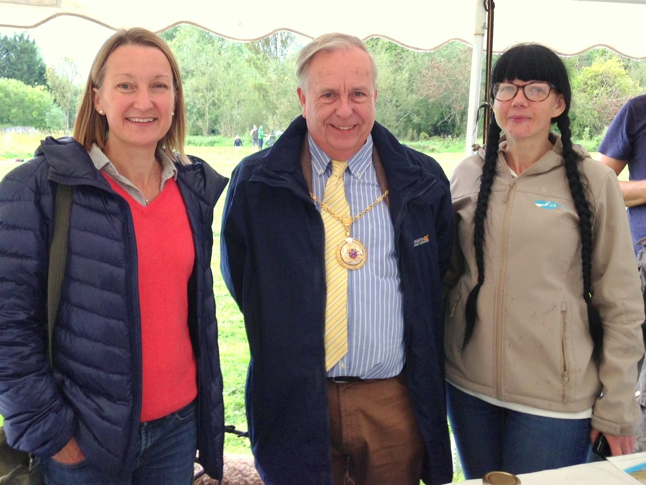 The Mayor with Charlotte Hitchmough & Anna Forbes of ARK