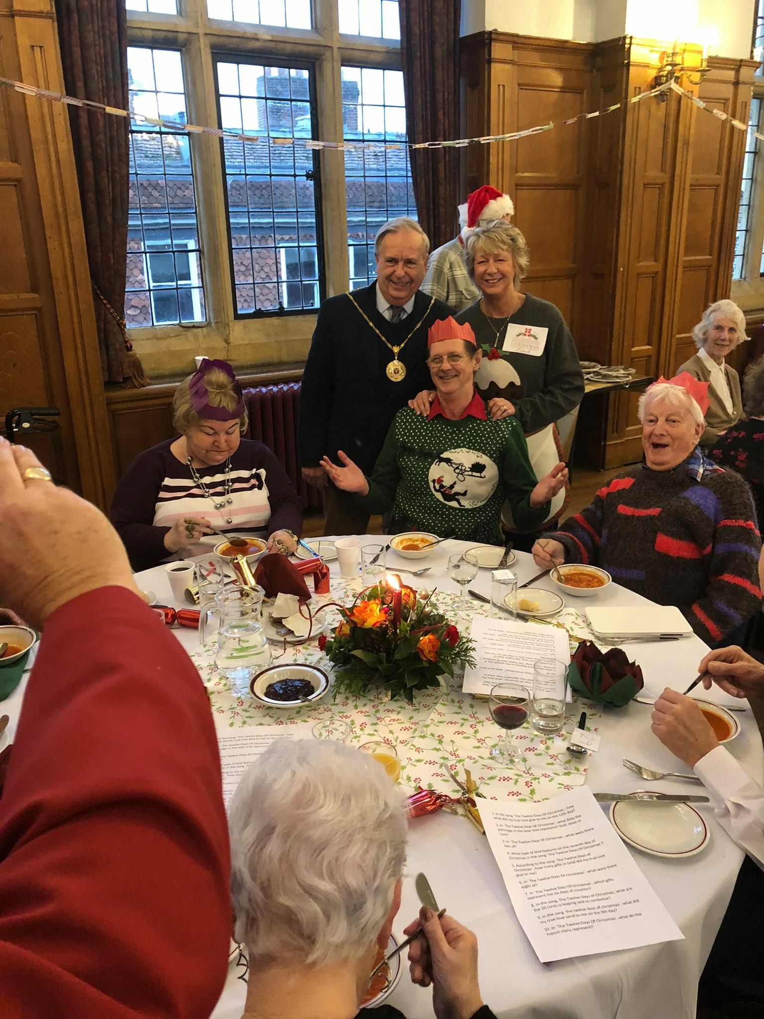 Christmas lunch in the Town Hall