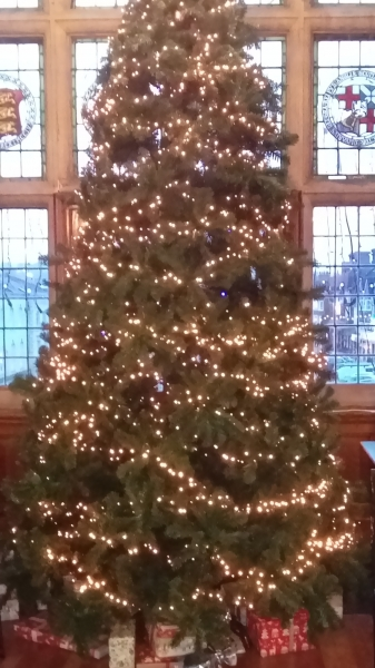 christmas tree in Assembly Room window