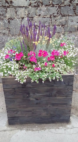 high street flower planter